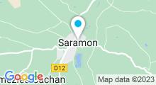Plan Carte Base de Loisirs de Saramon