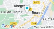 Plan Carte Piscine Nauticum à Roanne