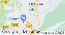 Plan Carte Piscine municipale Roland Garros du Tampon