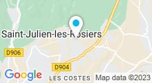 Plan Carte Piscine d'été de Saint-Julien-les-Rosiers