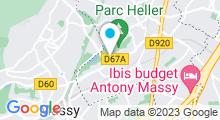 Plan Carte Centre aquatique Pajeaud à Antony