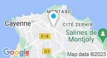 Plan Carte Stade Nautique - Piscine à Cayenne