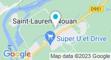 Plan Carte Centre aquatique du Grand Chambord à Saint-Laurent-Nouan