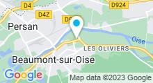 Plan Carte Centre aquatique de Beaumont-sur-Oise