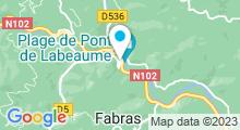 Plan Carte Piscine d'été à Pont de Labeaume