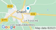 Plan Carte Piscine l'Odyssée à Craon