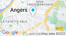 Plan Carte Piscine Jean Bouin à Angers