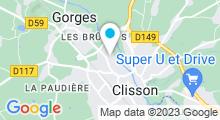 Plan Carte Centre aquatique Aqua'val - Piscine à Clisson