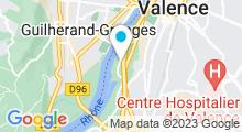 Plan Carte Centre aqualudique l'Epervière à Valence