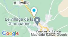 Plan Carte Piscine Aqua'Bar à Bar-sur-Aube