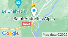 Plan Carte Plan d'eau de Saint-André-les-Alpes