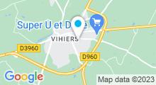 Plan Carte Centre aqualudique Lysséo à Vihiers - Lys-Haut-Layon
