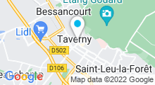 Plan Carte Centre aquatique à Taverny
