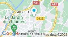 Plan Carte Piscine de Monplaisir à Angers