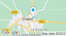 Plan Carte Plan d'eau du Mûrier à Craon
