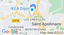 Plan Carte Piscine des Grésilles à Dijon