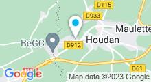 Plan Carte Hodellia - Centre Aquaforme Christian Barjot - Piscine à Houdan