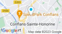 Plan Carte Centre Aquatique - Piscine de Conflans-Ste-Honorine