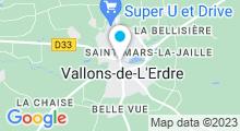 Plan Carte Piscine Alexandre Braud à St Mars La Jaille