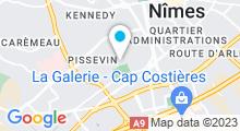 Plan Carte Piscine des Iris à Nîmes