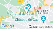 Plan Carte Piscine Chemin Vert à Caen
