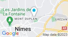Plan Carte Piscine Fenouillet à Nîmes