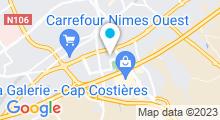 Plan Carte Stade nautique Nemausa - Piscine à Nîmes