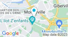 Plan Carte Piscine du Sivom des Trois Vallees à Mondeville
