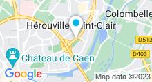 Plan Carte Piscine Montmorency à Hérouville-Saint-Clair
