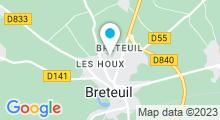 Plan Carte Piscine à Breteuil sur Iton