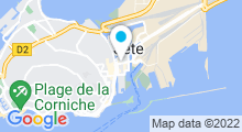 Plan Carte Piscine du Complexe Maurice Clavel à Sete