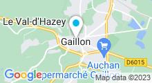 Plan Carte Centre aquatique Aquaval - Piscine à Gaillon