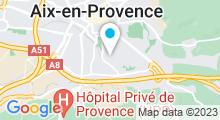 Plan Carte Piscine du centre sportif universitaire à Aix en Provence