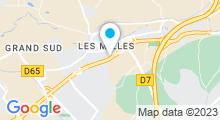 Plan Carte Piscine Claude Bollet - Quartier Sud à Aix en Provence - Les Milles
