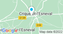 Plan Carte Piscine Aqua bowling des falaises à Criquetot l'Esneval