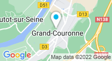 Plan Carte Piscine Alex Jany à Grand Couronne