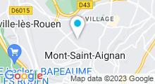 Plan Carte Piscine Euroceane à Mont St Aignan
