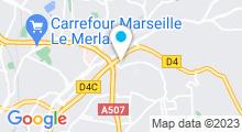 Plan Carte Piscine Frais Vallon à Marseille