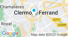 Plan Carte Piscine de Coubertin à Clermont Ferrand