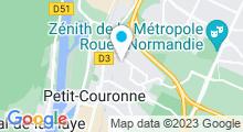 Plan Carte Piscine l'Archipel à Petit Couronne