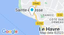 Plan Carte Piscine des Regates du Havre à Sainte Adresse