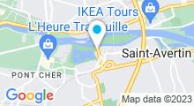 Plan Carte Centre aquatique du Lac - Piscine à Tours