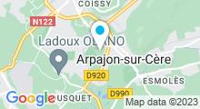 Plan Carte Centre aquatique - Piscine d'Aurillac