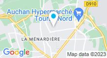 Plan Carte Piscine du Mortier à Tours