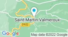 Plan Carte Piscine à St Martin Valmeroux