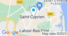Plan Carte Piscine Aquasud - Leon Hennebicq à Saint Cyprien