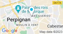 Plan Carte Piscine Ecole Saint Gauderique à Perpignan