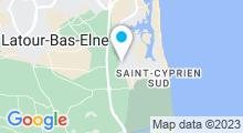 Plan Carte Parc Aqualand à Saint Cyprien