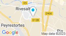 Plan Carte Piscine Les Dômes à Rivesaltes