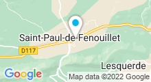 Plan Carte Piscine des Cortals à Saint Paul de Fenouillet